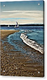 Sailing The Puget Sound Acrylic Print by David Patterson