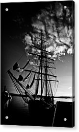 Sails In The Sunset Acrylic Print by Hakon Soreide