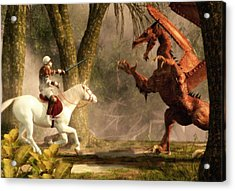 Saint George And The Dragon Acrylic Print by Daniel Eskridge