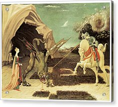 Saint George And The Dragon Acrylic Print by Paolo Uccello