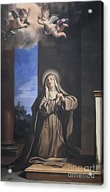Saint Mary Magdalene Penitent By Il Guercino Acrylic Print by Roberto Morgenthaler