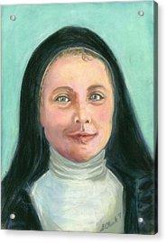Saint Therese Of Lisieux Acrylic Print by Susan  Clark