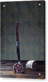 Salami Acrylic Print by Joana Kruse