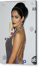 Salma Hayek At Arrivals For The Nclr Acrylic Print by Everett