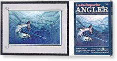 Salmon And J-plugs Acrylic Print by JQ Licensing