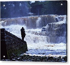 Salmon Fishing, Ballisodare River, Co Acrylic Print by The Irish Image Collection