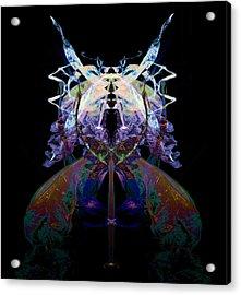 Samurai Bug Plant Acrylic Print by David Kleinsasser