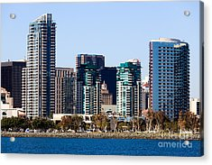 San Diego California Skyline Acrylic Print by Paul Velgos