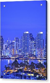 San Diego Skyline And Harbour Island Acrylic Print by Stuart Westmorland