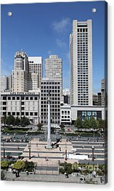 San Francisco - Union Square - 5d17941 Acrylic Print by Wingsdomain Art and Photography