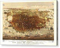 San Francisco 1878 Acrylic Print by Donna Leach