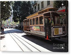 San Francisco Cable Car At The Powell Street Cable Car Turnaround - 5d17963 Acrylic Print by Wingsdomain Art and Photography