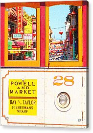 San Francisco Cablecar 28 . Chinatown Acrylic Print by Wingsdomain Art and Photography