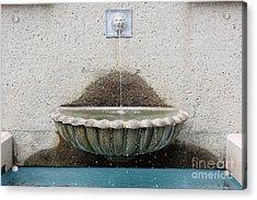 San Francisco Crocker Galleria Roof Garden Fountain - 5d17894 Acrylic Print by Wingsdomain Art and Photography