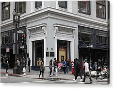 San Francisco Shreve And Company On Grant Street - 5d17920 Acrylic Print by Wingsdomain Art and Photography