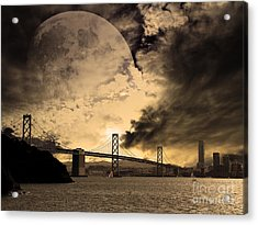 San Francisco Under The Moon Acrylic Print by Wingsdomain Art and Photography