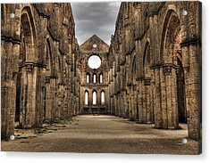 San Galgano  - A Ruin Of An Old Monastery With No Roof Acrylic Print by Joana Kruse