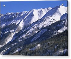 San Juan Mountains Covered In Snow Acrylic Print by Tim Fitzharris