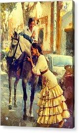 San Miguel Fair In Torremolinos Acrylic Print by Jenny Rainbow