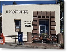 San Quentin Post Office In California - 7d18549 Acrylic Print by Wingsdomain Art and Photography