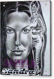 Sandra Bullock Acrylic Print by Rick Hill