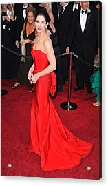 Sandra Bullock Wearing Vera Wang Dress Acrylic Print by Everett
