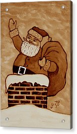 Santa Claus Is Coming Acrylic Print by Georgeta  Blanaru