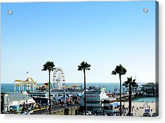 Santa Monica Pier Acrylic Print by Malania Hammer