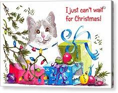 Santa's Helper Greetings Acrylic Print by Terry Taylor