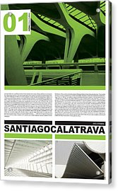 Santiago Calatrava Poster Acrylic Print by Naxart Studio