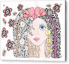 Sarah Acrylic Print by Paula Dickerhoff