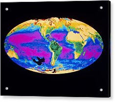 Satellite Image Of The Earth's Biosphere Acrylic Print by Dr Gene Feldman, Nasa Gsfc