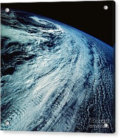 Satellite Images Of Storm Patterns Acrylic Print by Stocktrek Images