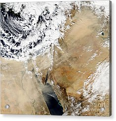 Satellite View Of The Eastern Acrylic Print by Stocktrek Images