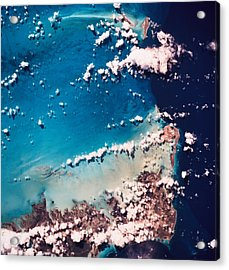 Satellite View Of The Ocean Acrylic Print by Stockbyte