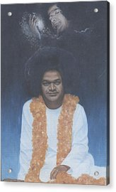Sathya Sai Baba Divine II Acrylic Print by Anne Provost