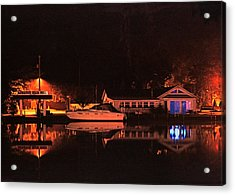 Saugatuck Chain Ferry Acrylic Print by James Rasmusson