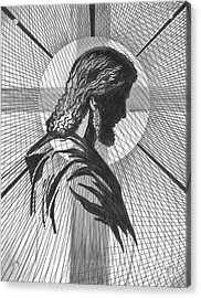 Saviour Acrylic Print by Peter Olsen