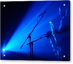 Sax In Blue Acrylic Print by Anthony Citro
