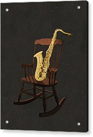 Sax Rocks Acrylic Print by Eric Kempson
