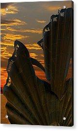 Scallop Sunrise Acrylic Print by Darren Burroughs