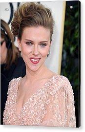 Scarlett Johansson At Arrivals For The Acrylic Print by Everett