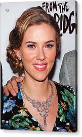 Scarlett Johansson Wearing Van Cleef & Acrylic Print by Everett
