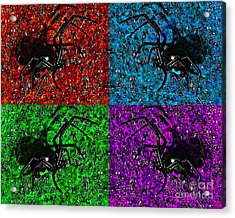 Scary Spider Serigraph Acrylic Print by Al Powell Photography USA