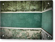 School Is Out Acrylic Print by April Davis