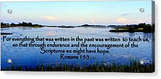Scripture For Hope Acrylic Print by Sheri McLeroy