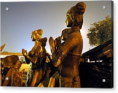 Sculpture Of Women Acrylic Print by Sumit Mehndiratta
