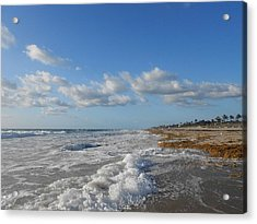 Sea And Sky Acrylic Print by Sheila Silverstein