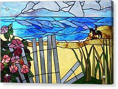 Sea Roses - Rosa Rugosa Acrylic Print by Jane Croteau