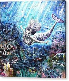 Sea Surrender Acrylic Print by Shana Rowe Jackson